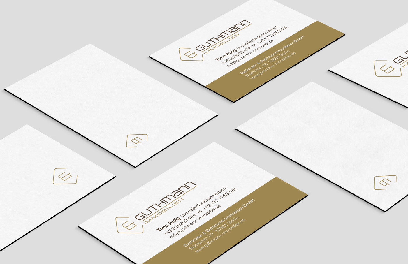Businesscards, Layout